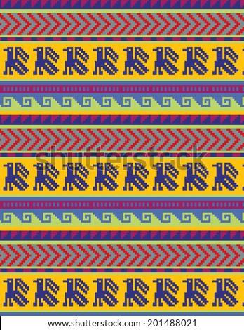 Peruvian motifs - seamless pattern  - stock vector