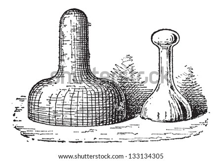 Pestle, vintage engraved illustration. Dictionary of Words and Things - Larive and Fleury - 1895 - stock vector