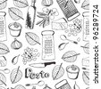 Pesto seamless pattern - stock vector