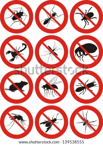 pests icon - stock vector