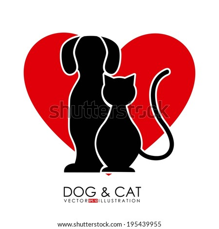 Pet design over white background, vector illustration - stock vector