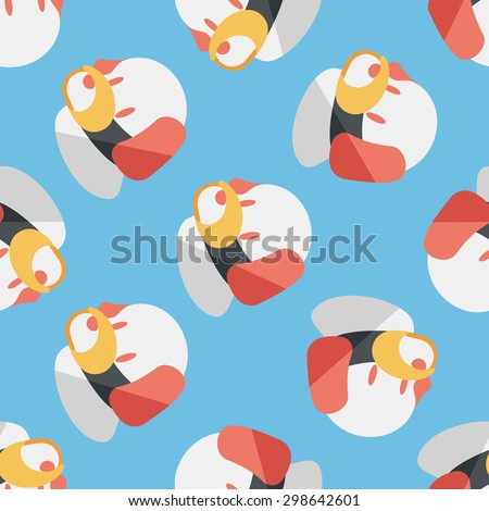 Pet dog mouth cover flat icon,eps10 seamless pattern background - stock vector