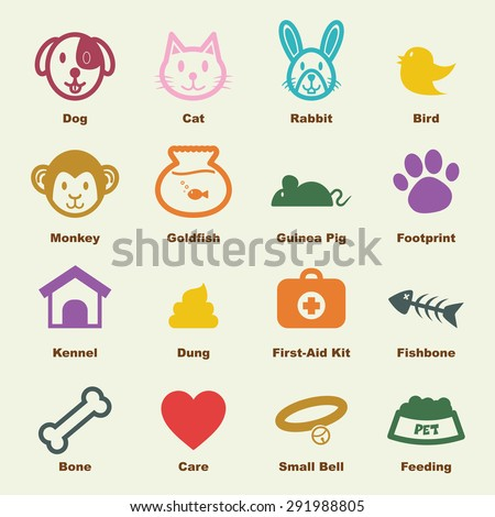 pet elements, vector infographic icons - stock vector