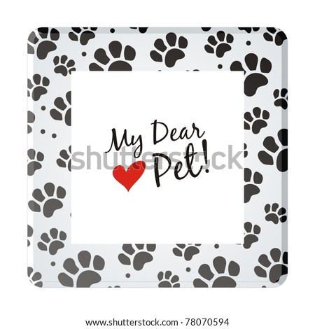 Pet frame square - stock vector