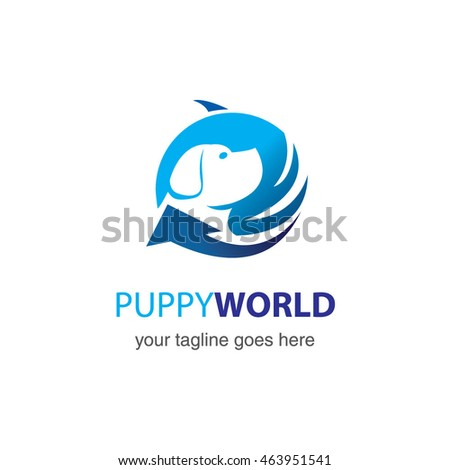 pet logo template, vector illustration concept for animal business services