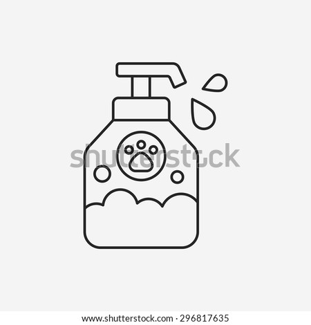 pet shampoo line icon