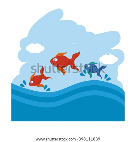 Pet shop with fish  design, Vector illustration
