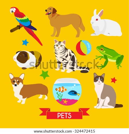 Pet Vector Design Illustration - stock vector