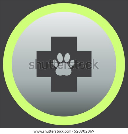 Pet veterinary vector icon. Animal examination sign. Cat and dog doctor symbol
