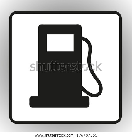 Petrol station round the clock service. Vector icon - stock vector