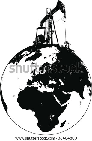 petrol station world - stock vector