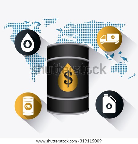 Petroleum and oil industry infographic design, vector illustration - stock vector