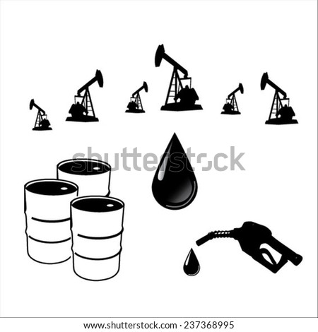 Petroleum icons - stock vector