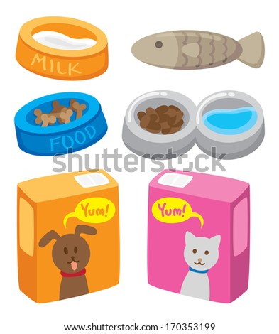 pets food - stock vector