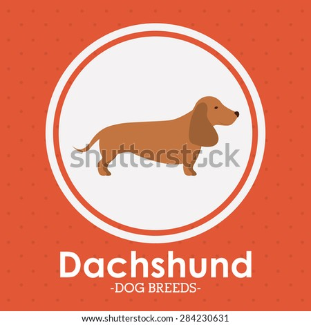 Pets Love design over red background, vector illustration - stock vector