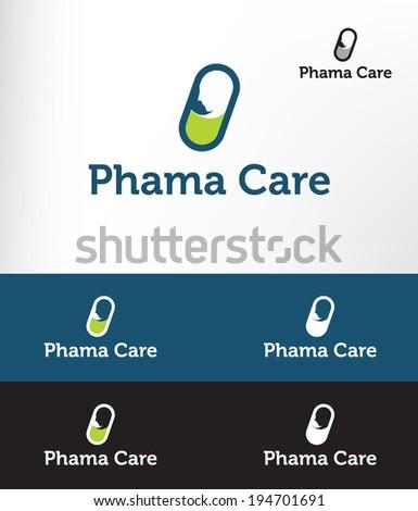 Pharmacy icon vector - stock vector