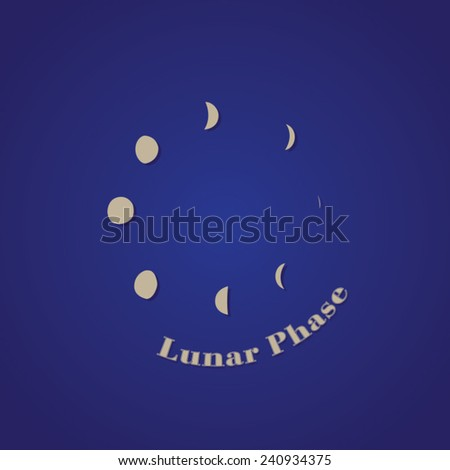 Phases of the Moon Logo Template - Vector Object - stock vector