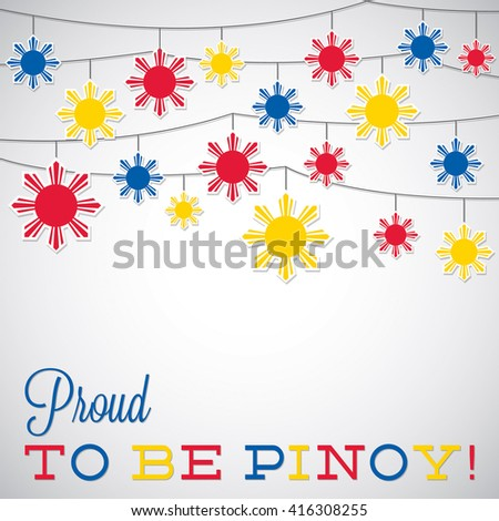 Philippine Independence Day card in vector format.