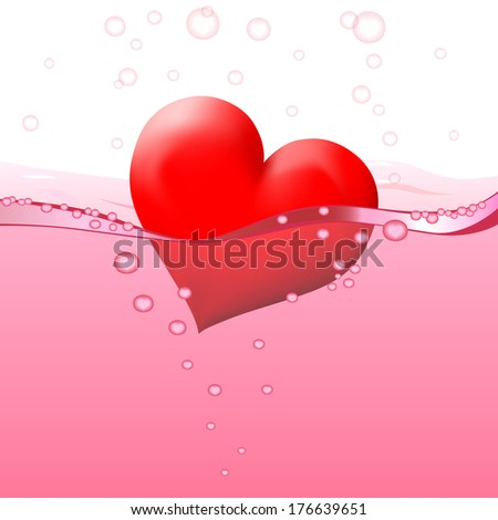 Philtre - drink of love (vector version; available as raster too) - stock vector