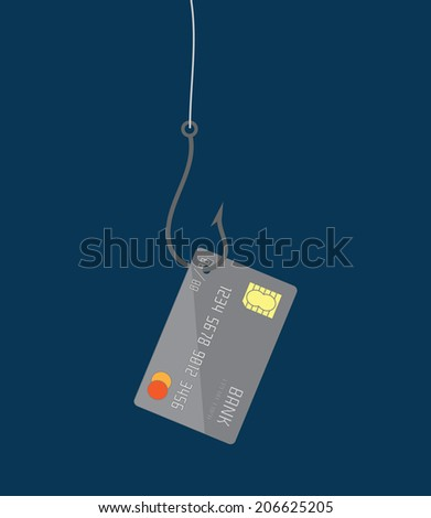 Phishing concept flat design, vector - stock vector