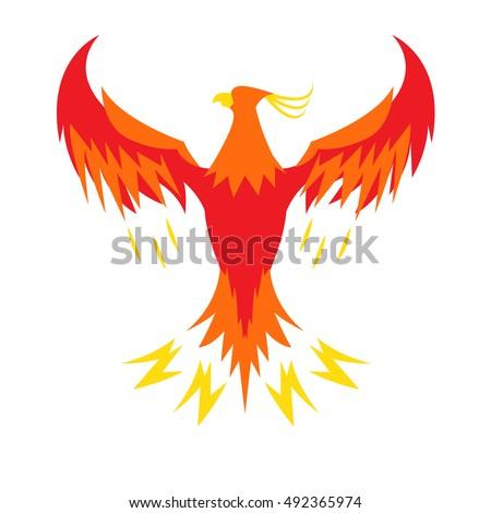 phoenix bird stock vector royalty free 492365974 shutterstock