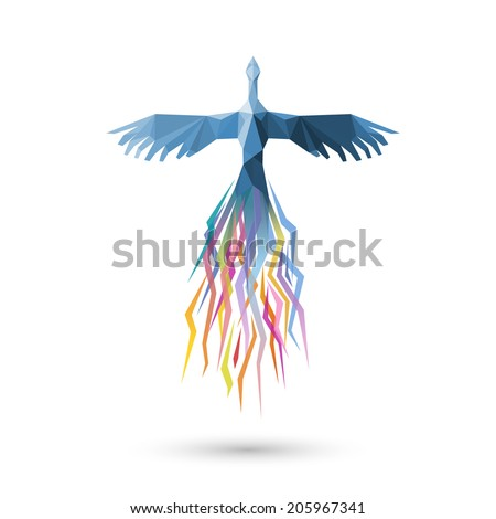 Phoenix bird, eps10 vector - stock vector
