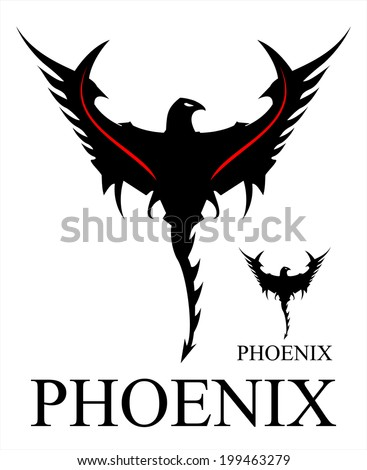 Phoenix. Black Phoenix - stock vector