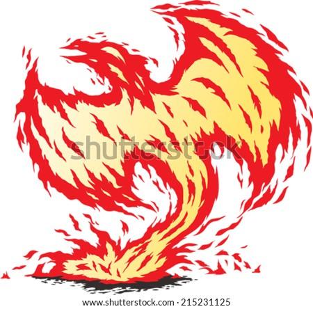 Phoenix reborn - stock vector
