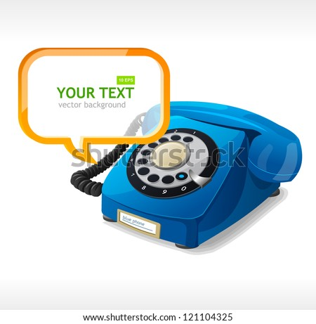 Phone as text box - stock vector