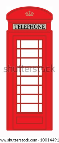Phone booth, vector illustration - stock vector