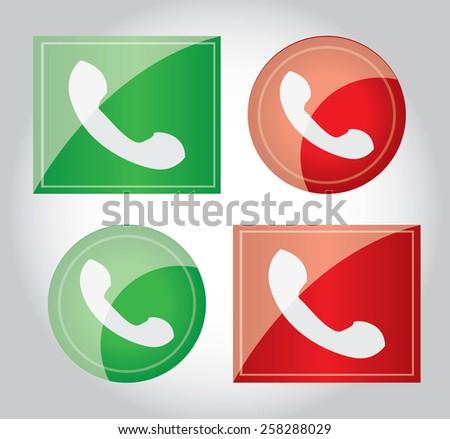 Phone Call  Icon - stock vector