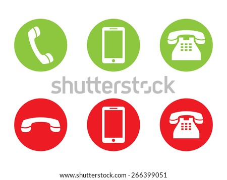 Phone Call vector Icons - stock vector
