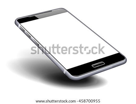 Phone Cell Smart Mobile with blank screen, high detailed eps vector illustration