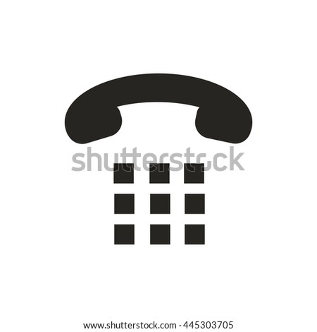 Phone dial icon - stock vector