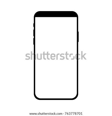 Phone Frame Concept Modern Mobile Phone Stock Photo (Photo, Vector ...
