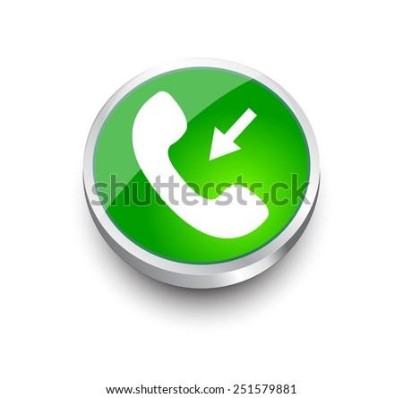 Phone green design elements for website or app. Vector eps10. - stock vector