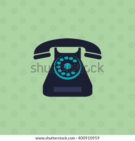 phone icon design, vector illustration