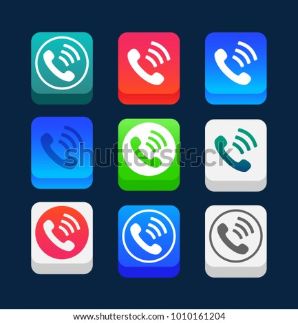 Phone Icon Trendy Flat Style Isolated Stock Vector 1010161204