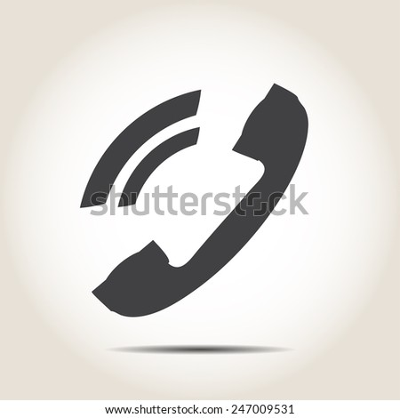 Phone icon on a gray background - stock vector