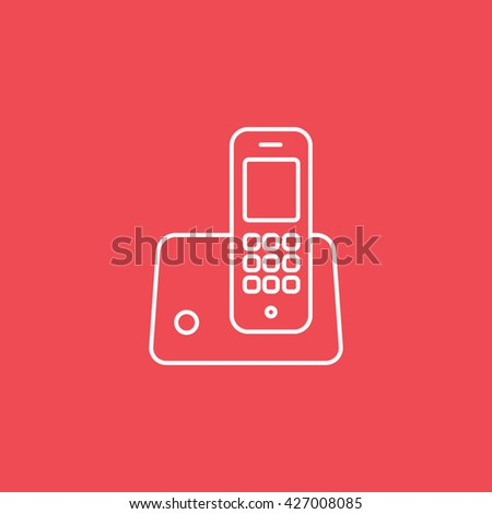Phone Icon On Red Background