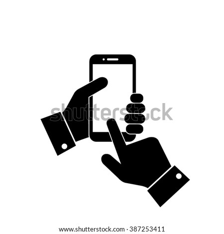 Phone icon vector illustration eps10. Image phone design flat style. - stock vector