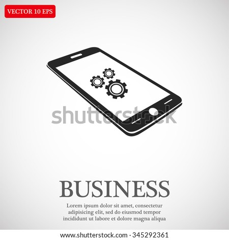 Phone icon with settings menu. icon. Vector Eps 10 - stock vector