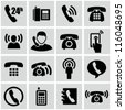 Phone icons - stock photo