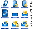 Phone icons 6 - stock photo
