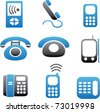 phone icons, vector - stock vector