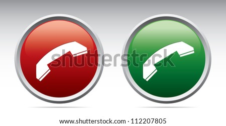Phone icons. Vector - stock vector