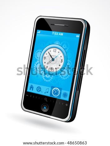 Phone illustration - stock vector