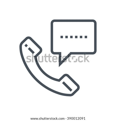 Phone message icon suitable for info graphics, websites and print media and  interfaces. Line vector icon.