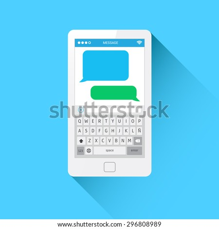 Phone Message Template Stock Vector 296808986 - Shutterstock