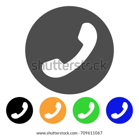 Phone Number Vector Pictograph Style Flat Stock Vector Royalty Free